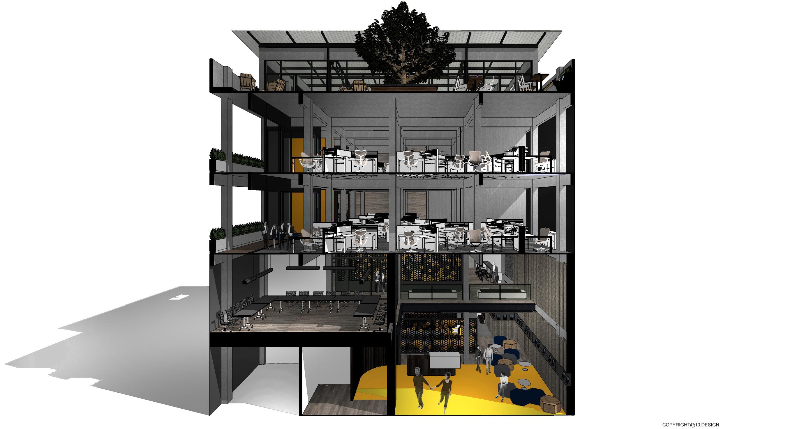 10DESIGN ookbee head office interior design start up THAILAND 04