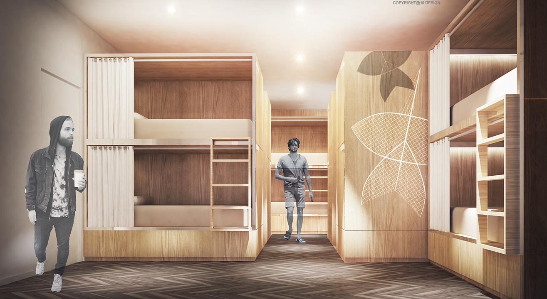 10design kite hostel bangkok hotel hospitality room 01