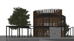 10DESIGN PTT GAS STATION LANDSCAPE ARCHITECTURE FACADE CURVE DESIGN PROJECT 02