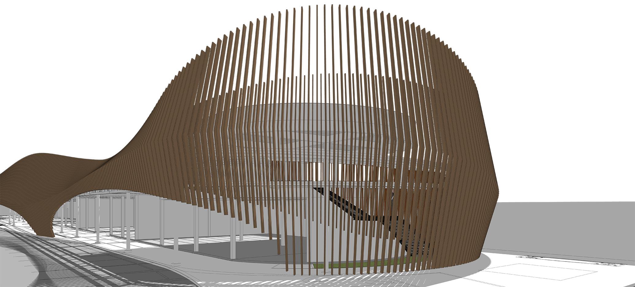 10DESIGN PTT GAS STATION LANDSCAPE ARCHITECTURE FACADE CURVE DESIGN PROJECT 09