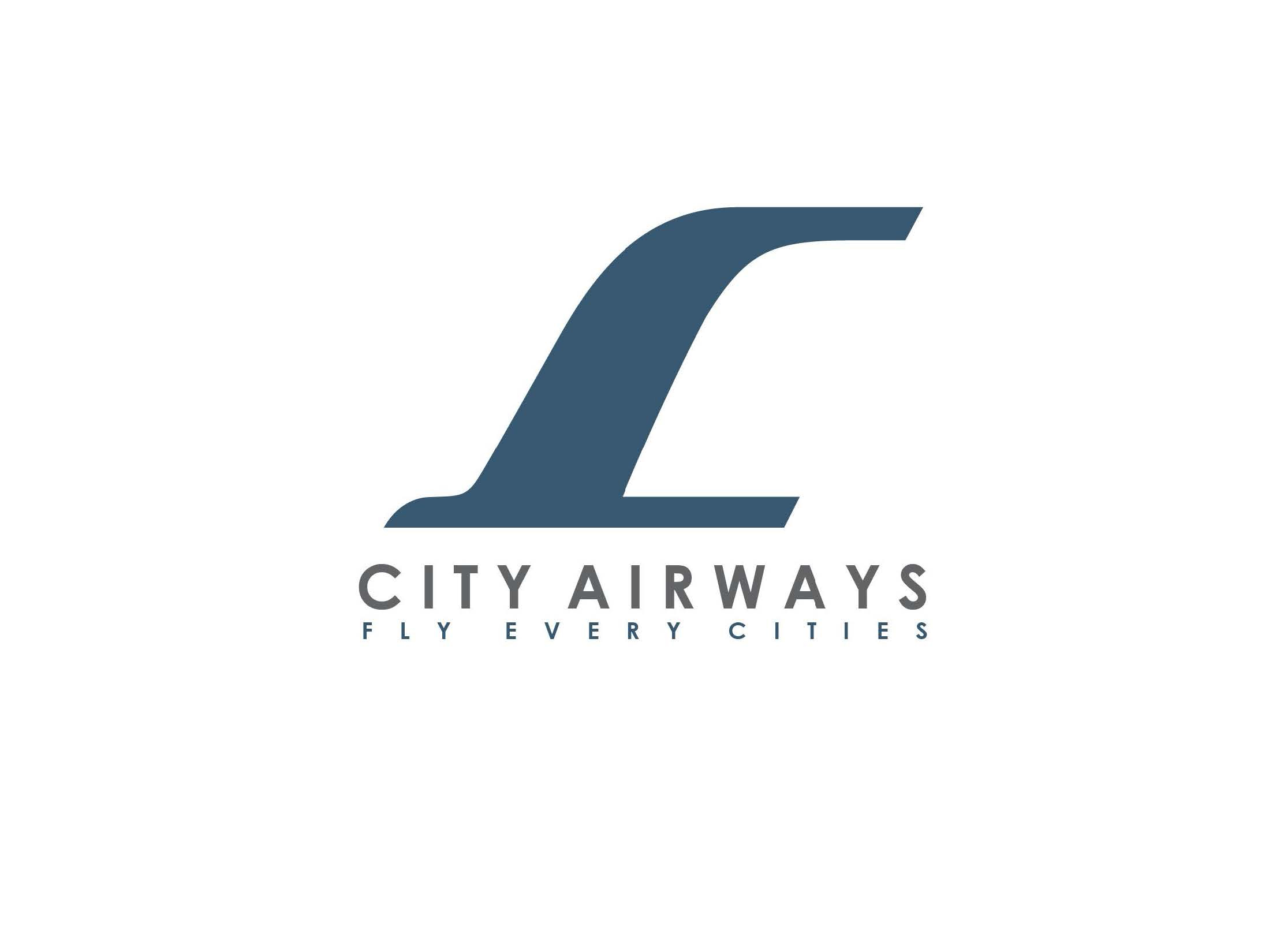 10DESIGN CITY AIRWAYS BRANDING LOGO DESIGN COMMERCIAL CORPORATE FLIGHT 07