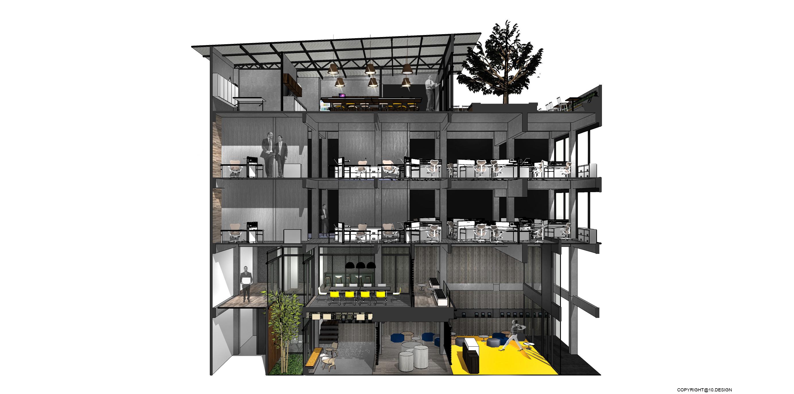 10DESIGN ookbee head office interior design start up THAILAND 03