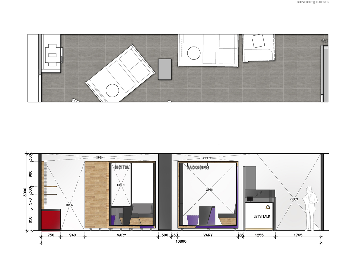 10 DESIGN SCB BANKING BUSINESS CENTER CENTRAL WORLD INTERIOR COMMERCIAL ELEVATION 02