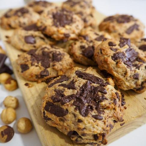 Cookies de avellanas y chocolate