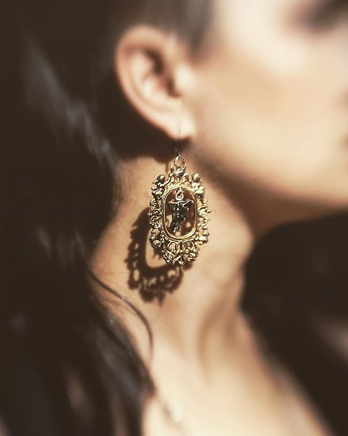 Bone Frame earring