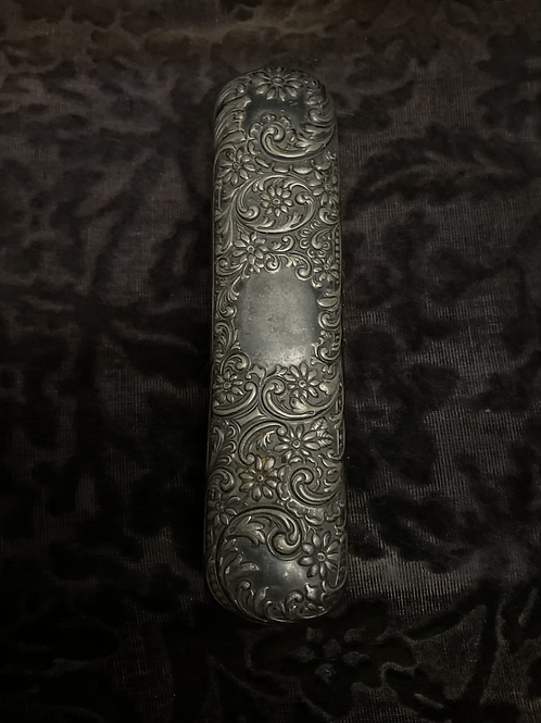 Repoussé silver brush