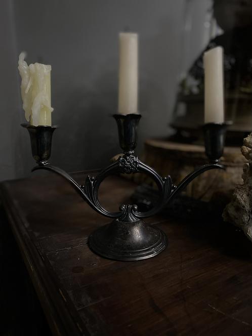 Nouveau floral candelabra
