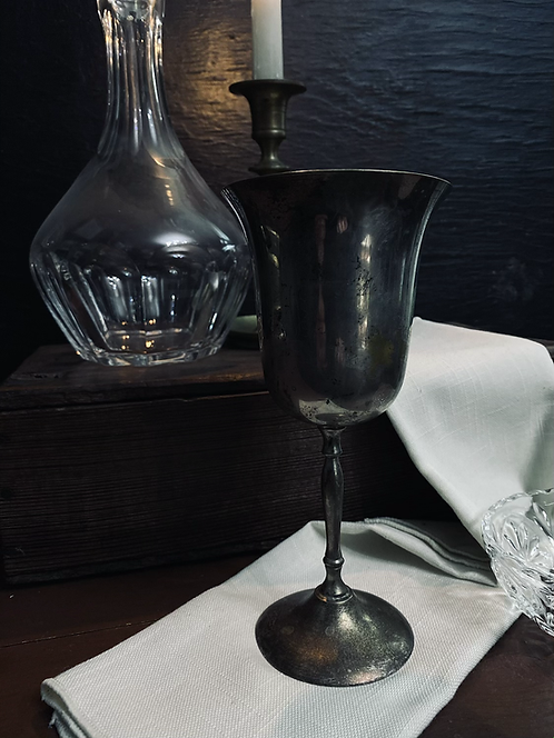 Tall silver chalice