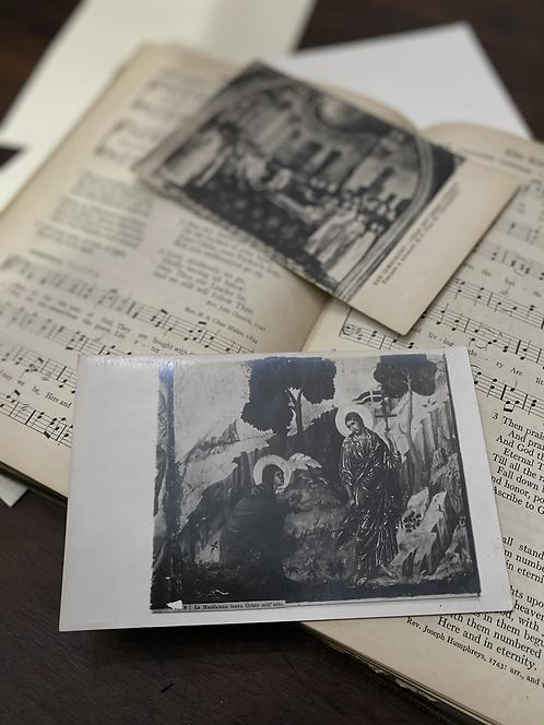 Vintage postcard set, church
