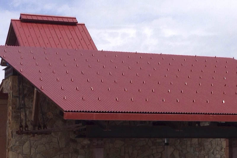 Red Corrugated Roof