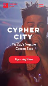 Müzik website templates – Concert Venue