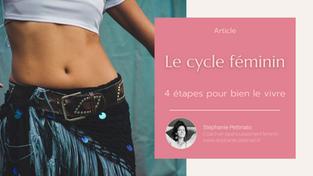 Le cycle féminin : 4 étapes pour bien le vivre