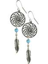Dream Catcher Earring w/Turquoise