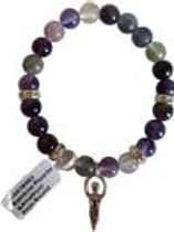 Fluorite-Amethyst with Goddess