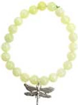 New Jade with Silver Dragonfly