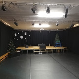 Drapes, Lights and dance floor fitted