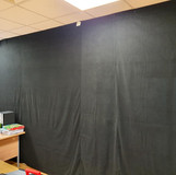 installed drapes