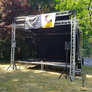 Small festival stage