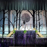 Staging used on a theatre set
