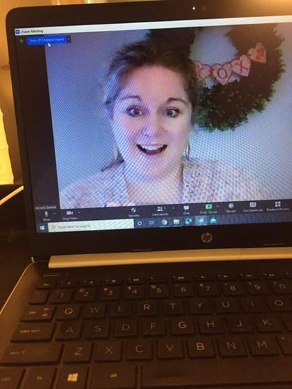 Jessica in a Zoom Lesson