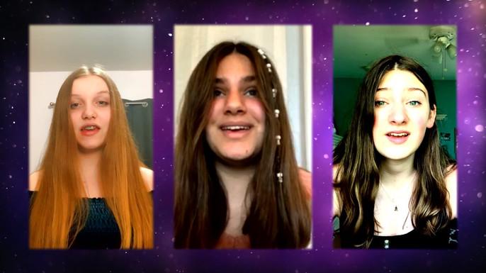 Jessica's students perform a virtual trio.