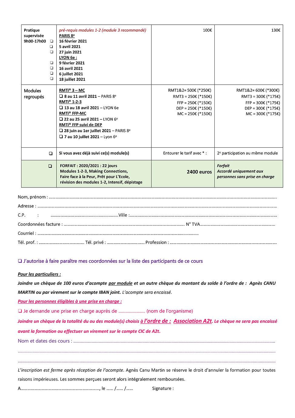 Bulletin d'inscription 1er S 2021 - Fran