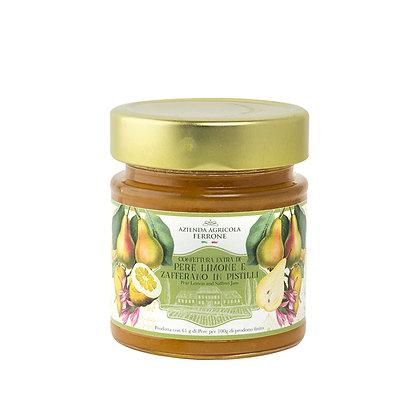 Premium Jam Pear, Lemon and Saffron 200 gr