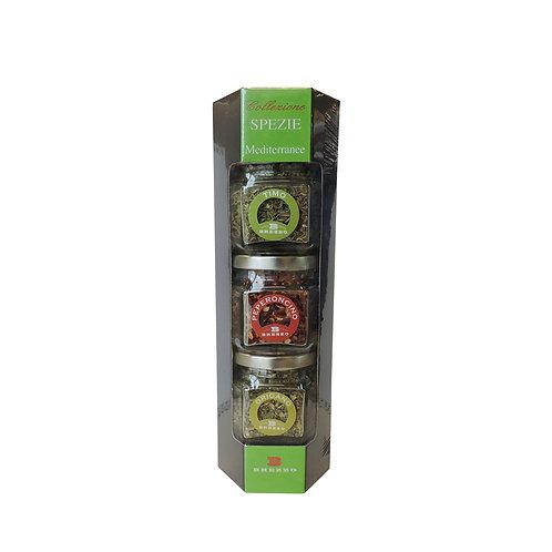 Mediterranean Spices Trio (Oregano, Thyme, Chilly) 90gr