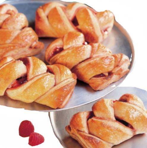 Raspberry Jam Croissant Intreccio - 90gr x 60pcs