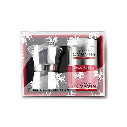Gift Box Gran Riserva + Moka - 250gr Roast And Ground Coffee
