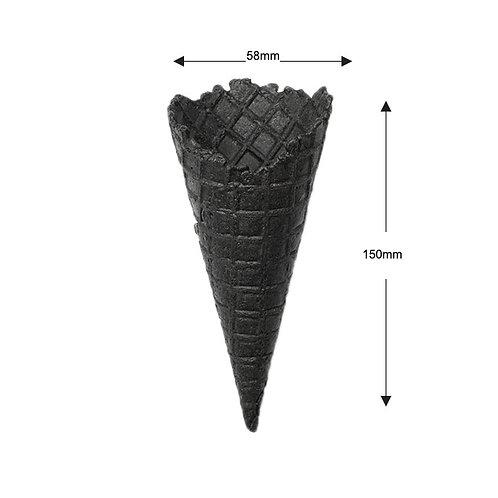 Black Waffle Cone - 260pcs