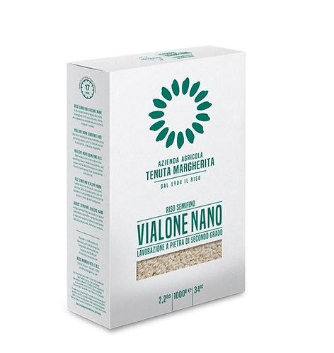 Stone Ground Vialone Nano Rice vacum pack 1kg