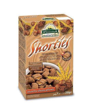 """"""" Shorties """" Crunchy Cereal Pillows filled with Chocolate & Hazelnut Cream 250gr"""