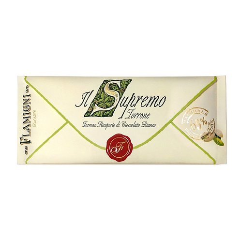 """The """"Supremo"""" Nougat Flamigni with almonds and white chocolate 150g"""