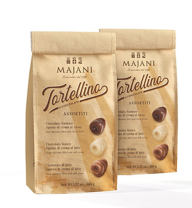 """Tortellino"" Assorted Chocolates  Corky Bag 21 pcs -168gr"