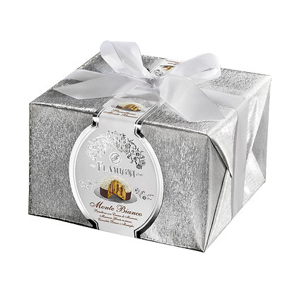 Panettone covered with white chocolate and meringue 950g