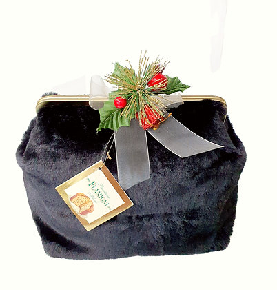 Panettone Flamigni Milano Classic in Luxury Black Fur Bag - gr. 750