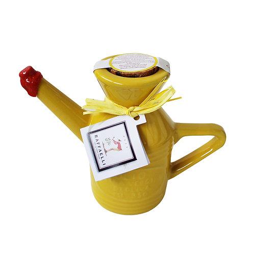 Extra Virgin Olive Oil in Fancy Ceramic Dispenser 350ml (Yellow)