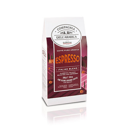 100% ARABICA ESPRESSO BLEND 250GR PACKET - GROUND