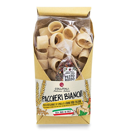 """White Paccheri Pasta with Selection Spices """"Red Pesto"""" 250gr"""