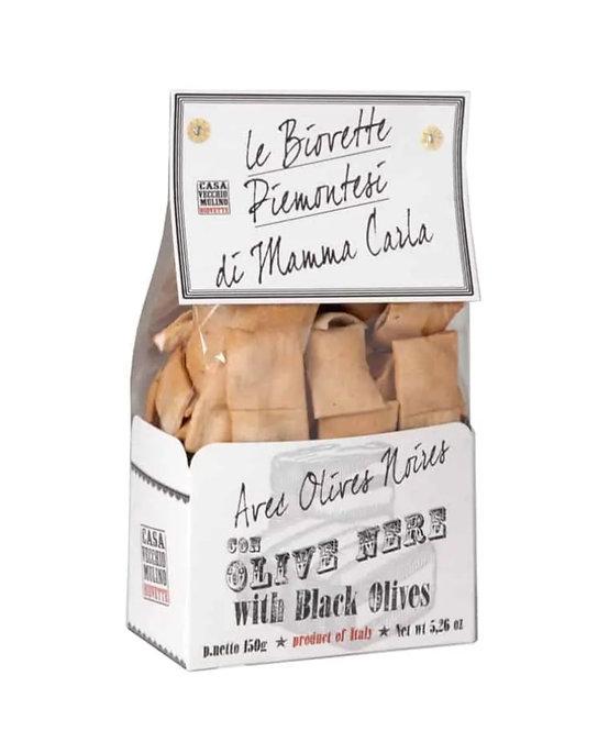Mini Flat Italian Bread with Black Olives