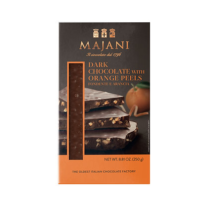 ASSORTED SNAPS Dark chocolate with orange peel 250gr