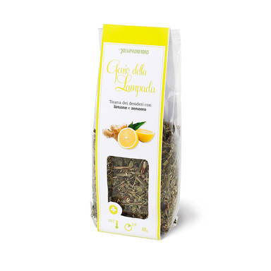 Fruit herbal tea withlemon and ginger