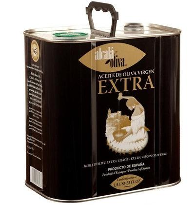 Alcala' Oliva - Spanish Extra Virgin Olive Oil  in Tin - 2.5 kg