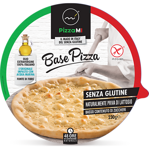 Precooked Pizza Bases Gluten Free 14 pieces Box Ø 30 cm - 240gr