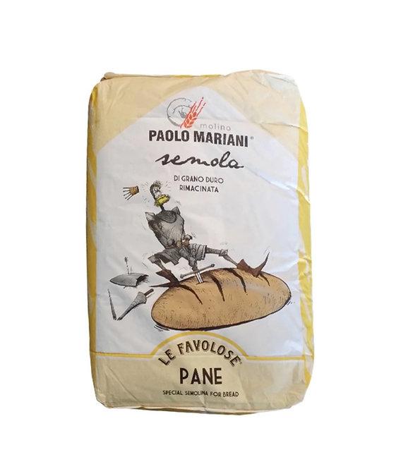 Remilled Durum Wheat Flour Semolina  - Paolo Mariani - 1 Kg.