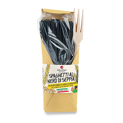 Spaghetti Black Squid with wooden fork 500gr