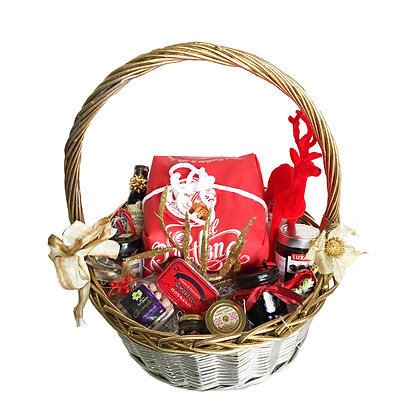 Golden Gift Box Hamper with Speciality Santa Food