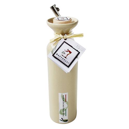 Extra Virgin Olive Oil in Ceramic Dispenser (Off White) 250ml