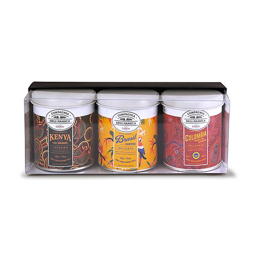 Gift Set 3 Assorted 125g. Tins Of Pure Arabica Coffee